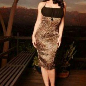 Pinup girl clothing maxi knee dress